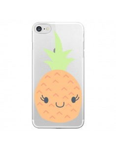 Coque Ananas Pineapple Fruit Transparente pour iPhone 7 - Claudia Ramos