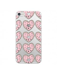 Coque Donuts Heart Coeur Rose Pink Transparente pour iPhone 7 - Claudia Ramos