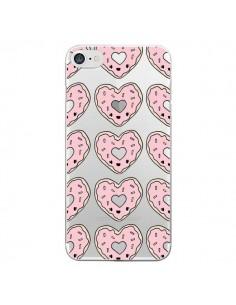Coque iPhone 7 et 8 Donuts Heart Coeur Rose Pink Transparente - Claudia Ramos
