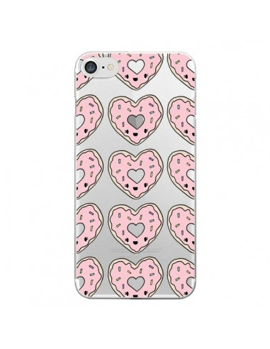 Coque Donuts Heart Coeur Rose Pink Transparente pour iPhone 7 et 8 - Claudia Ramos
