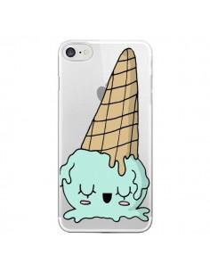 Coque Ice Cream Glace Summer Ete Renverse Transparente pour iPhone 7 - Claudia Ramos