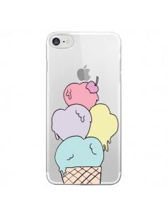 Coque Ice Cream Glace Summer Ete Coeur Transparente pour iPhone 7 et 8 - Claudia Ramos