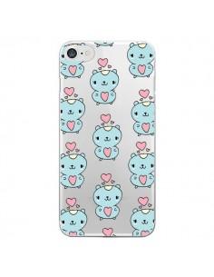 Coque Hamster Love Amour Transparente pour iPhone 7 - Claudia Ramos