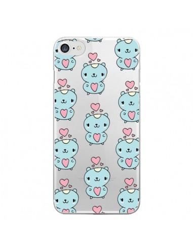 Coque iPhone 7 et 8 Hamster Love Amour Transparente - Claudia Ramos