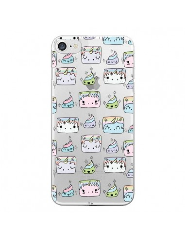 Coque iPhone 7 et 8 Licorne Unicorn Cute Swag Transparente - Claudia Ramos