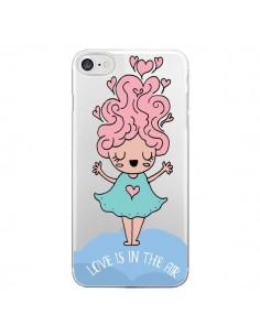 Coque iPhone 7 et 8 Love Is In The Air Fillette Transparente - Claudia Ramos