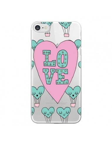 Coque Love Nuage Montgolfier Transparente pour iPhone 7 et 8 - Claudia Ramos