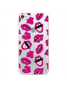 Coque iPhone 7 et 8 Lèvres Lips Bouche Kiss Transparente - Claudia Ramos