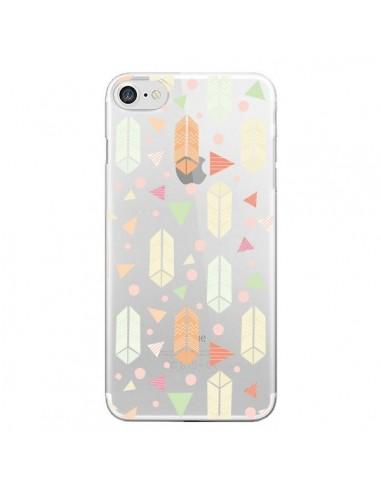 Coque iPhone 7 et 8 Arrow Fleche Azteque Transparente - Claudia Ramos