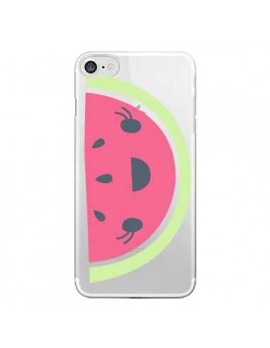 Coque iPhone 7 et 8 Pasteque Watermelon Fruit Transparente - Claudia Ramos