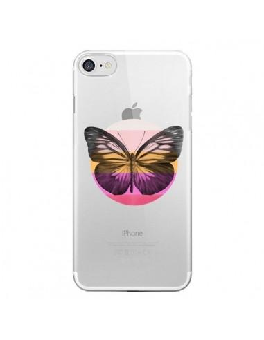 Coque iPhone 7 et 8 Papillon Butterfly Transparente - Eric Fan