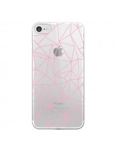 Coque Lignes Triangle Rose Transparente pour iPhone 7 et 8 - Project M