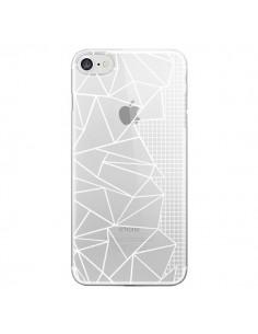 Coque Lignes Grilles Side Grid Abstract Blanc Transparente pour iPhone 7 et 8 - Project M