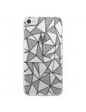 Coque Lignes Grilles Triangles Grid Abstract Noir Transparente pour iPhone 7 et 8 - Project M