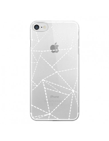 Coque Lignes Points Abstract Blanc Transparente pour iPhone 7 et 8 - Project M