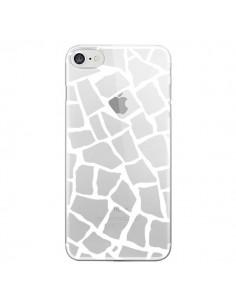 Coque Girafe Mosaïque Blanc Transparente pour iPhone 7 et 8 - Project M