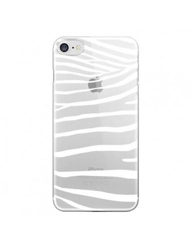 Coque Zebre Zebra Blanc Transparente pour iPhone 7 et 8 - Project M
