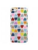 Coque Coeurs Heart Couleur Transparente pour iPhone 7 et 8 - Project M