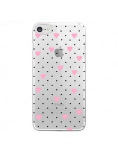 Coque Point Coeur Rose Pin Point Heart Transparente pour iPhone 7 et 8 - Project M