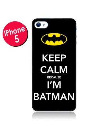 Coque Keep Calm because I'm Batman pour iPhone 5