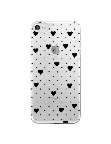 Coque Point Coeur Noir Pin Point Heart Transparente pour iPhone 7 et 8 - Project M
