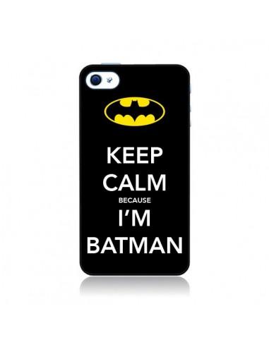 Coque Keep Calm because I'm Batman pour iPhone 4 et 4S