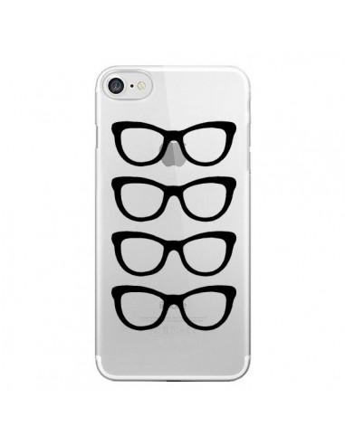 Coque Sunglasses Lunettes Soleil Noir Transparente pour iPhone 7 et 8 - Project M