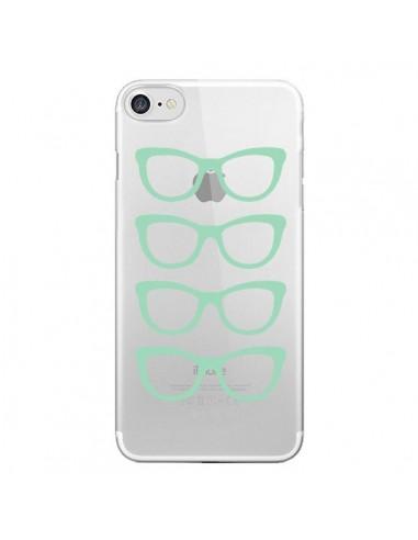 Coque Sunglasses Lunettes Soleil Mint Bleu Vert Transparente pour iPhone 7 et 8 - Project M