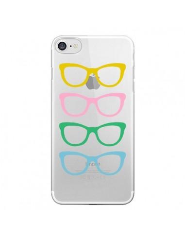 Coque iPhone 7 et 8 Sunglasses Lunettes Soleil Couleur Transparente - Project M