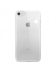 Coque Travel to your Heart Blanc Voyage Coeur Transparente pour iPhone 7 et 8 - Project M