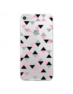 Coque Triangles Pink Rose Noir Transparente pour iPhone 7 et 8 - Project M