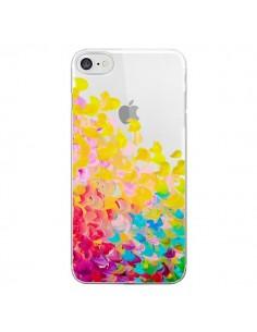 Coque Creation in Color Jaune Yellow Transparente pour iPhone 7 - Ebi Emporium