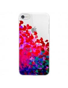 Coque Creation in Color Pink Rose Transparente pour iPhone 7 - Ebi Emporium
