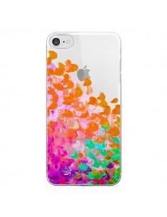 Coque Creation in Color Orange Transparente pour iPhone 7 - Ebi Emporium