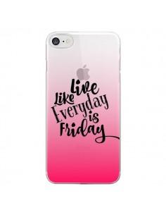 Coque Everyday Friday Vendredi Live Vis Transparente pour iPhone 7 - Ebi Emporium