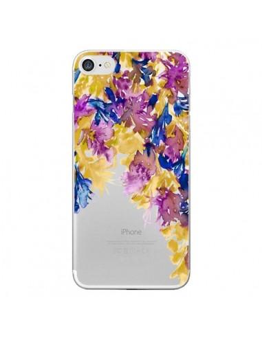 Coque iPhone 7 et 8 Cascade Florale Transparente - Ebi Emporium