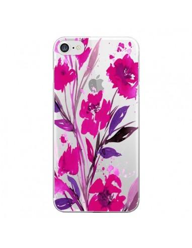 Coque iPhone 7 et 8 Roses Fleur Flower Transparente - Ebi Emporium
