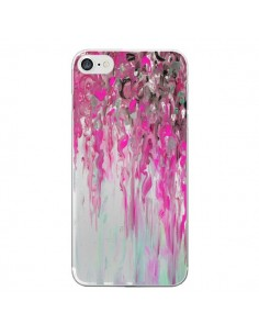 Coque Tempête Rose Transparente pour iPhone 7 et 8 - Ebi Emporium