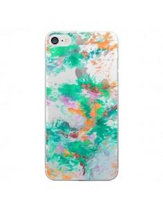 Coque iPhone 7/8 et SE 2020 Mermaid Sirene Fleur Flower Transparente - Ebi Emporium