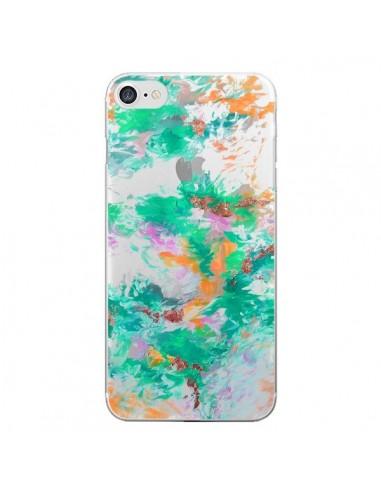 Coque iPhone 7 et 8 Mermaid Sirene Fleur Flower Transparente - Ebi Emporium