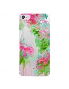 Coque Fleur Flower Rose Vert Transparente pour iPhone 7 - Ebi Emporium
