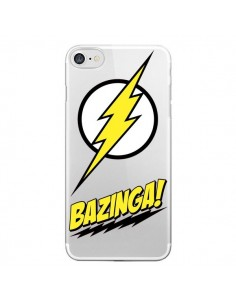 Coque iPhone 7/8 et SE 2020 Bazinga Sheldon The Big Bang Thoery Transparente - Jonathan Perez