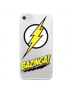 Coque iPhone 7 et 8 Bazinga Sheldon The Big Bang Thoery Transparente - Jonathan Perez