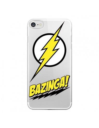 Coque Bazinga Sheldon The Big Bang Thoery Transparente pour iPhone 7 et 8 - Jonathan Perez