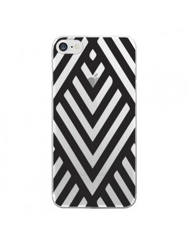 Coque Geometric Azteque Noir Transparente pour iPhone 7 et 8 - Dricia Do