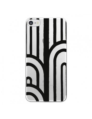 Coque Geometric Noir Transparente pour iPhone 7 et 8 - Dricia Do