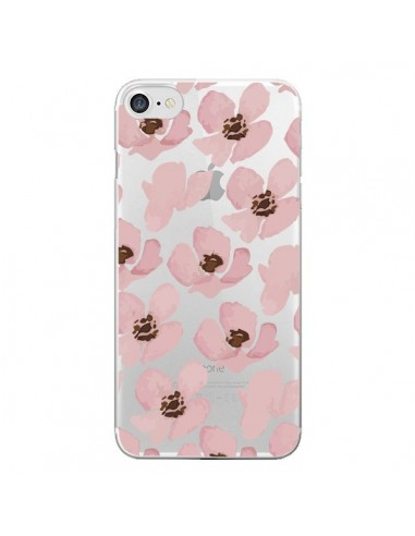 Coque Fleurs Roses Flower Transparente pour iPhone 7 et 8 - Dricia Do
