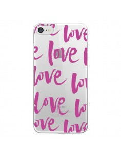 Coque Love Love Love Amour Transparente pour iPhone 7 - Dricia Do
