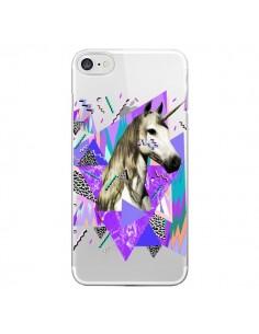 Coque iPhone 7/8 et SE 2020 Licorne Unicorn Azteque Transparente - Kris Tate