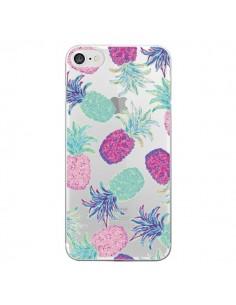 Coque iPhone 7/8 et SE 2020 Ananas Pineapple Fruit Ete Summer Transparente - Lisa Argyropoulos